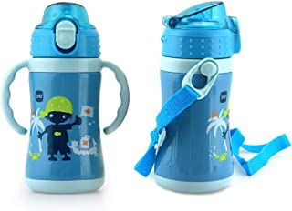 B&H Kids Cup Stainless Steel Insulated Sippy Cup for Baby with Straw, BPA free, 10 Ounce (Blue)