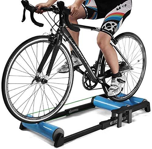 Bici MTB Negro Cubierta de Bicicletas Trainer Soporte Ligero fácil de Llevar Seguro for de Interior Formación Carrera Formación Bike