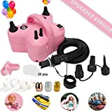 Best Balloon Pumps - Electric Balloon Pump,Portable Dual Nozzle Pink 110V 600W Review