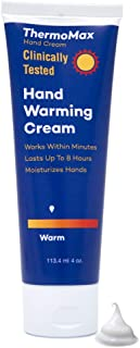 ThermoMax Warm, Boston Topical's Natural Hand Warming Cream, Soothes Foot Discomfort, Moisturizes Dry Skin, Absorbs Quickly - Clinically Tested Ingredients (4oz Tube)