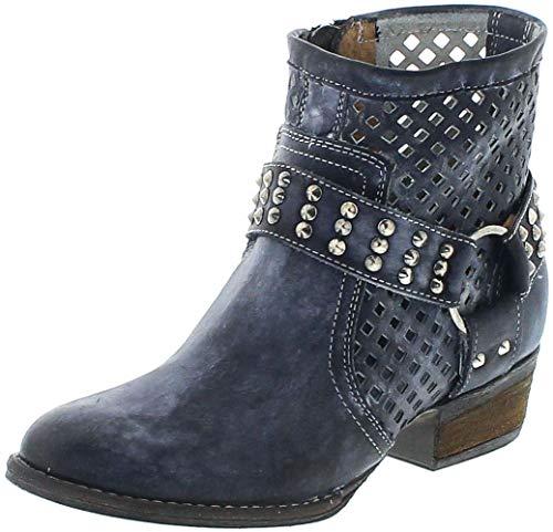 Mezcalero Boots Damen Lederstiefette 1705 DE Luxe Blau 39 EU