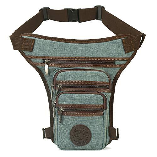 Eshow Drop Leg Bag Multi-Purpose Tool Bags Waterproof Nylon Waistpacks Tactical Leg Bag Fanny Pack Outdoor Pouch (blue605)