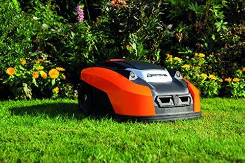 Yard Force YardForce X100i Mähroboter mit App-Steuerung - Selbstfahrender Rasenmäher Roboter mit Multizonen-Programm - Akku Rasenroboter für bis zu 1000 m² Rasen & 40% Steigung, 28 V, schwarz/orange - 3