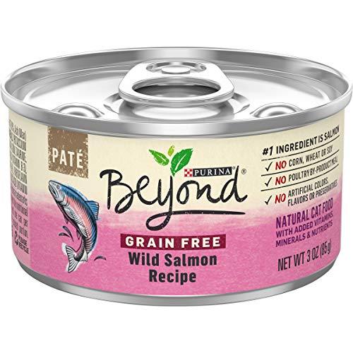 Purina Beyond Grain Free, Natural Pate Wet Cat Food, Grain Free Wild Salmon...