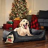 Songmics XXL Luxus Hundebett Hundekissen Oxford Gewebe mit unten einen Anti-Rutschboden – 120 x 85 x 30 cm PGW30H - 7