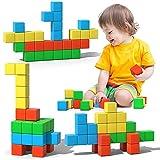 Magnetic Blocks, 28 Pieces 1.34 inch Large Magnetic Building Blocks, 3D Magnetic Cubes for kids, Preschool Educational...