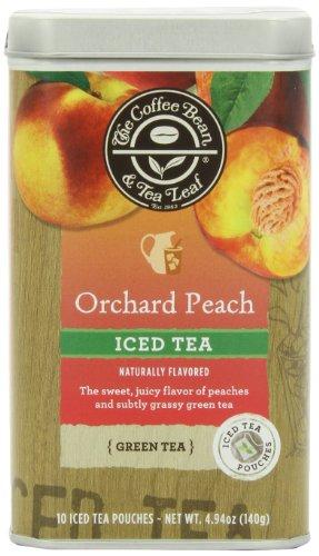 The Coffee Bean & Tea Leaf Iced Green Tea, Orchid Peach, 4.94-Ounce