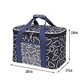 Lunch Bags Bolso del Almuerzo for Hombres y Mujeres de Picnic Grande Cooler Bag Correa de Hombro Ajustable con Aislamiento del Bolso del Almuerzo de Oficina/Escuela/Picnic (Color : Black, Size : L)