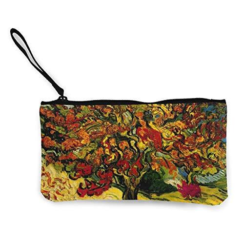 Mulberry Tree Canvas portemonnee prachtige muntportemonnee kleine Canvas muntportemonnee wordt gebruikt om muntverandering, ID en andere vast te houden