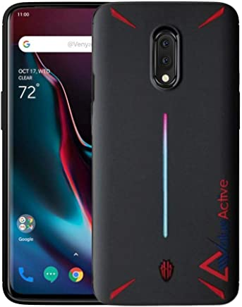 Valueactive Covers and Cases for OnePlus 7 Case Back Cover Soft TPU Silicon Rubberized Back Case Cover for OnePlus 7 (Black)