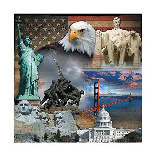 Patriotic Backdrop Banner (6 Ft. X 6 Ft.) - Party Decorations & Backdrops & Scene Setters