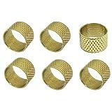 PULABO Dedales de anillo curvados para tapicería de mano de...