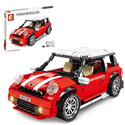 YOU339 557 piezas Retro Pull-Back Vintage Speed Racing, juego de construcción de vehículos compatible con Lego Ideas, montaje de piezas pequeñas de decoración, colección
