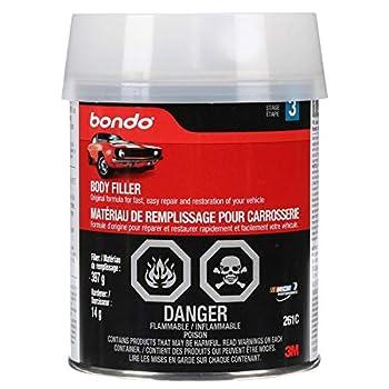 Bondo Body Filler Original Formula for Fast Easy Repair & Restoration of Your Vehicle 14 oz with 0.5 oz Hardener