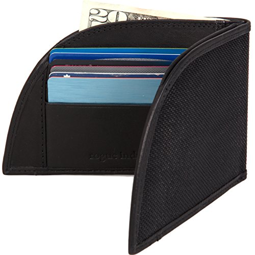 Rogue Industries Front Pocket Wallet by Rogue Industries - Ballistic Nylon With, Leather Interior and RFID Blocking