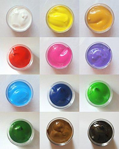 NEW Nail Art acrylique Set de 12 couleurs pour manucure design One Stroke döschen 10 ml accessoires 12 couleurs en pour fleurs sans Stroke Convient