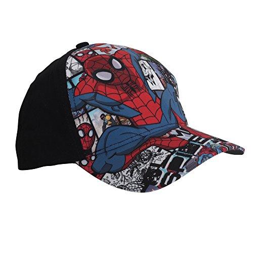Marvel Spiderman Cap - Spinnen - Schwarz/Blau/Mehrfarbig