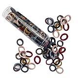 JIRIS Kit de ajuste para lazos de pelo sin interrupción y kit de inicio de tiempo limitado, suave para cualquier tipo de cabello sin deslizamiento o enganches mezcla de color (set 3)