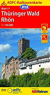 Thüringer Wald / Rhön cycling map (German Edition)