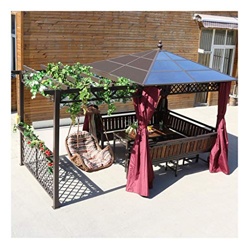HLZY Garden Furniture Gazebo Gazebos for Patios with Netting and Curtains Swing Chair, Outdoor Canopy Gazebo Villa Garden Gazebo Grape Rack, for Garden, Patio, Lawns, Parties Outdoor Canopy