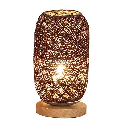 ZYCH Navidad Lámpara de Ratán de Madera Lámpara de Bola Lámpara de Mesa Sala de Arte en Casa Decoración Lámpara Regalo (Color : D)