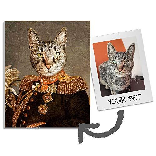 YZY Custom Pet Portrait Canvas Wall Art for Home Decor, Modern Wall Decoration Funny Pet Customizable Canvas