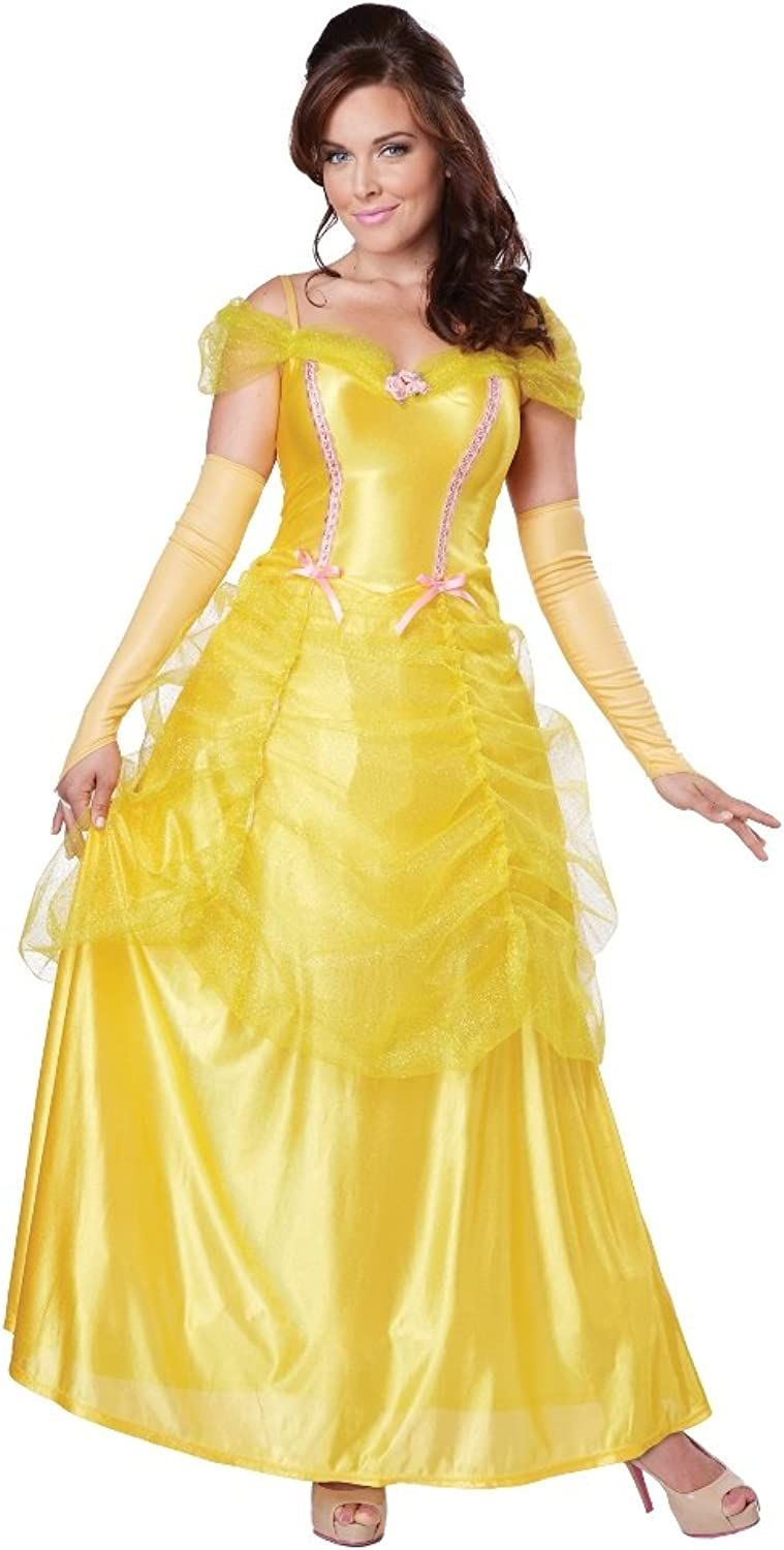 California Costumes Woherren Classic Beauty Fairytale Princess Long Dress Gown, Gelb, X-Small