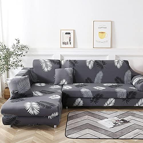 WXQY Funda de sofá elástica para Sala de Estar Funda de sofá elástica Funda de sofá de Esquina para Mascotas en Forma de L Funda de sofá elástica Conjunto de Funda de sofá A10 1 Plaza