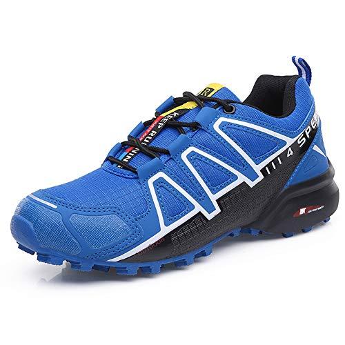 Zapatillas Trekking Hombre Zapatillas Senderismo Transpirable Antideslizante Al Aire Libre Zapatillas de Deporte Azul 41