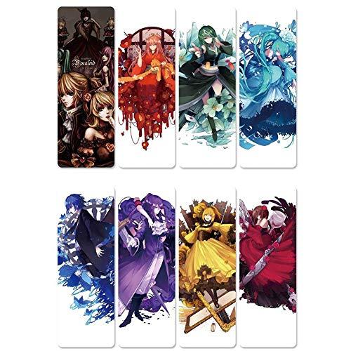 ALTcompluser Anime The Seven Deadly Sins Magnetische Lesezeichen Set 8-Teile | Perfekt für Leser, Kinder, Studenten, Fotoalbum, Tagebuch(Set 2)