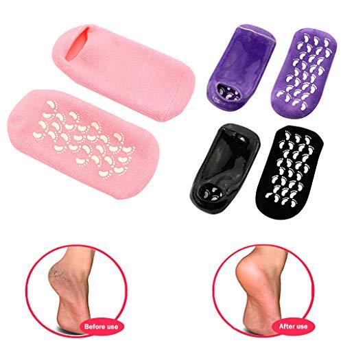 Winkey Weiche, feuchtigkeitsspendende Gelsocken zum Reparieren und Weichmachen von rissigen Fußgelsocken (Pink)