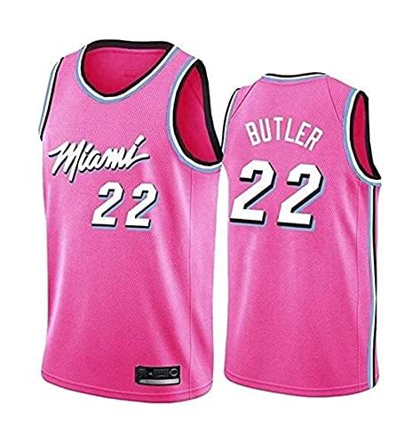 LIPENG NBA Men's Women Jersey - NBA Miami Heat 22# Butler Jerseys Transpirable Baloncesto Baloncesto Swingman Jersey (Color : Pink, Size : L)