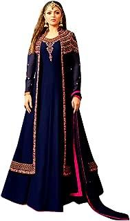 Indian Bollywood Georgette Long Kaftan Muslim Anarkali Suit Custom to Measure Womn Festival Suit 19