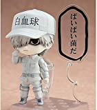 Exquisite action figures Cells At Work! White Blood Cell Q Version Nendoroid Interchangeable Face Movable Joints PVC Anime Cartoon Game Character Model Statue Figure Toy Collectibles Decorations Gifts