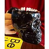 HUANXA Cráneo Taza De Café con Agarre, Gran Capacidad Calentador De Cerámica Tazas De Café 3D Taza para Capuchino Cacao Cereales Leche Regalo-Cráneo-420ml/14.2oz