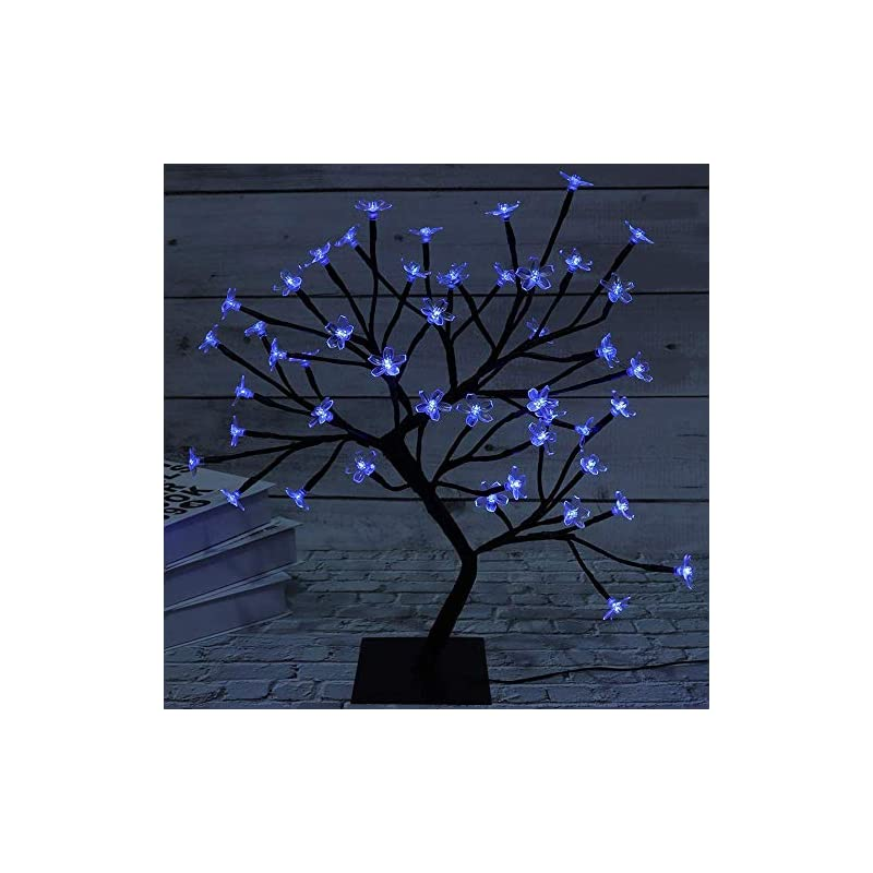 silk flower arrangements fuchsun bonsai tree light artificial tree led flower cherry blossom light adjustable branches battery operated for room decoration and gift