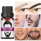 Aceite esencial para la reparación del folículo capilar de la barba RtopR - Hombres estilismo Bigote Cuerpo de la barba Crecimiento del cabello Cuidado de las cejas Hidratante Aceite suavizante