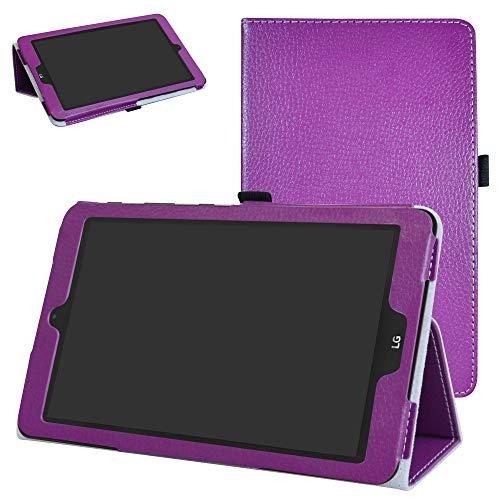 Mama Mouth PU Leder Folio 2-Folding Ständer Cover mit Stylus Halterung für 20,3cm LG G Pad X II 8.0Plus T-Mobile V530Android 7.0Tablet violett violett