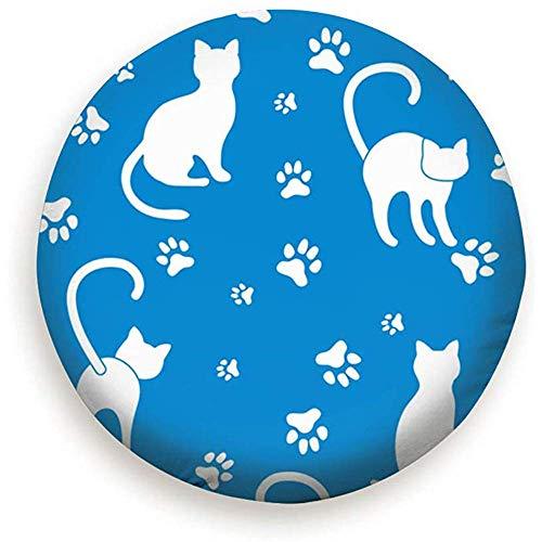 Niet van toepassing Tire Cover Camping Katten Sporen Sjabloon Ontwerp Dieren Wildlife Advertisement Cover Reserveband 17INCH 1120