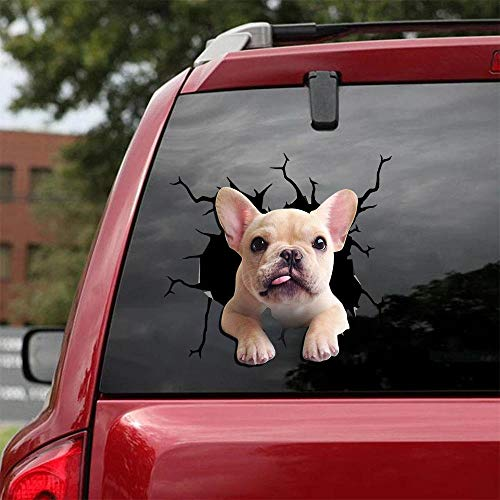 Ocean Gift Frenchie - French Bulldog Car Decals, Wall Decals Stickers Pack of 2 - Realistic Car Stickers Design Series 17 Size 8' x 8'