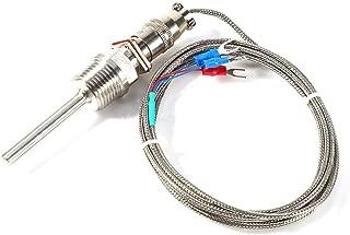 TOPINCN RTD PT100 Thermocouple Temperature Sensor Probe 1/2