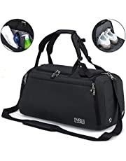 Sports Gym Bag with Shoes Compartment / Wet Pocket,42L Travel Duffel Bag with Shoulder Strap