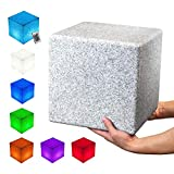 INNOKA 12' Large LED Cube Light [Granite Design] ETL Listed IP65 Waterproof Cordless Rechargeable Decorative Dimmable Mood Lamp Remote Control [16 RGB Colors] 4 Lighting Effect for Pool Outdoor Party