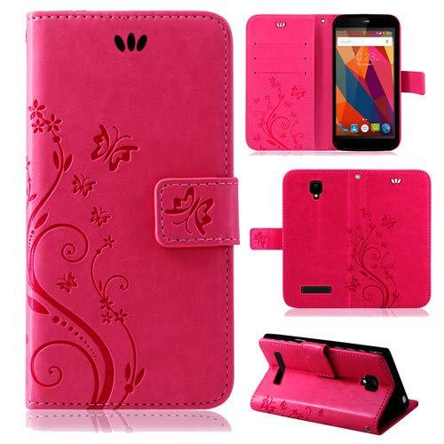 betterfon | Flower Case Handytasche Schutzhülle Blumen Klapptasche Handyhülle Handy Schale für ZTE Blade L5 Plus Pink