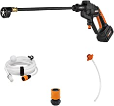 WORX WG620 20V 4.0Ah Hydroshot Cordless Portable Power Cleaner, Black and Orange (Renewed)