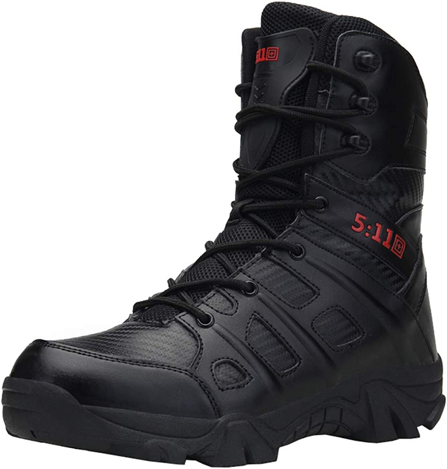 shoes Men's Martin boots casual high boots,Fashion classic zipper boots punk leather military boots,Outdoor waterproof non-slip bare boots motorcycle fighting