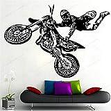 wZUN Decoración de la Pared de la Motocicleta Pegatinas de Pared de Vinilo calcomanías de Pared de Estilo Libre Mural de Arte para habitación de niño 63X90cm