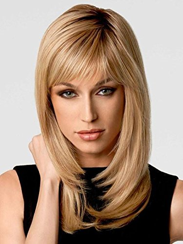 Long with Layers Wig Color SS14/88 SHADED GOLDEN WHEAT - Hairdo Wigs Layered Lengths Bangs Tru2Life Heat Friendly Synthetic Capless