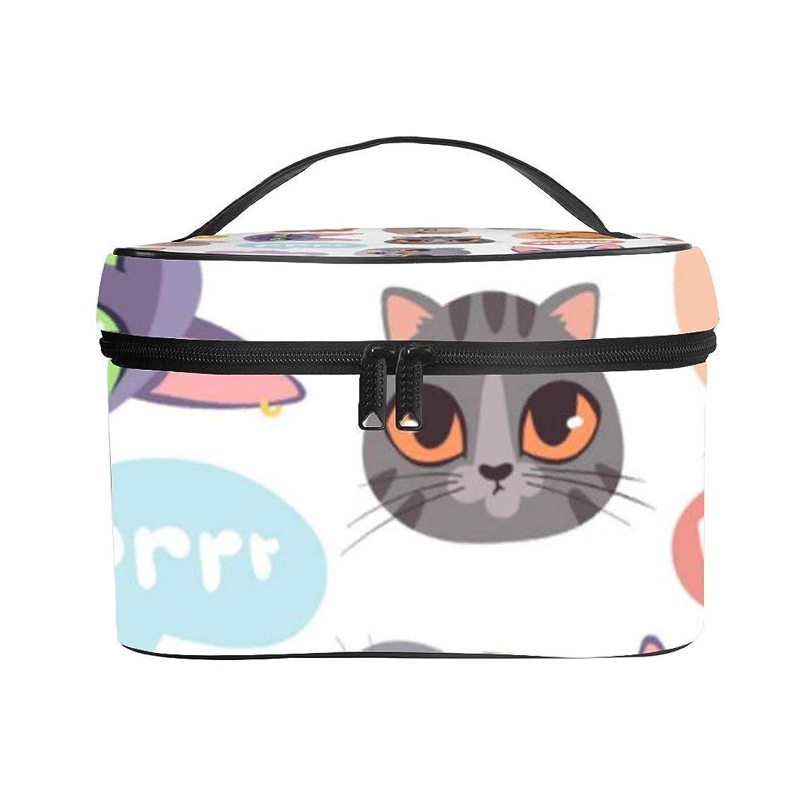 スリーブシードゆりかごメイクぼっくす PUレザー コスメボックス バニティポーチ かわいい ペット ねこ 猫柄 化粧ボックス メイクブラシバッグ トラベルバッグ 人気 かわいい 大容量 機能的