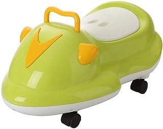ZXCSJ ベビートイレ - トイレトレーニングシート - キッズボーイズガールズ子供の幼児のためのかわいいバナナ便座トレーナーポータブル折り畳み式のトイレ (Color : Green)